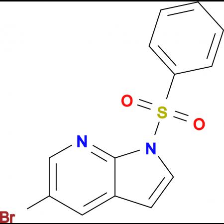 1-BENZENESULFONYL-5-BROMO-1H-PYRROLO[2,3-B]PYRIDINE