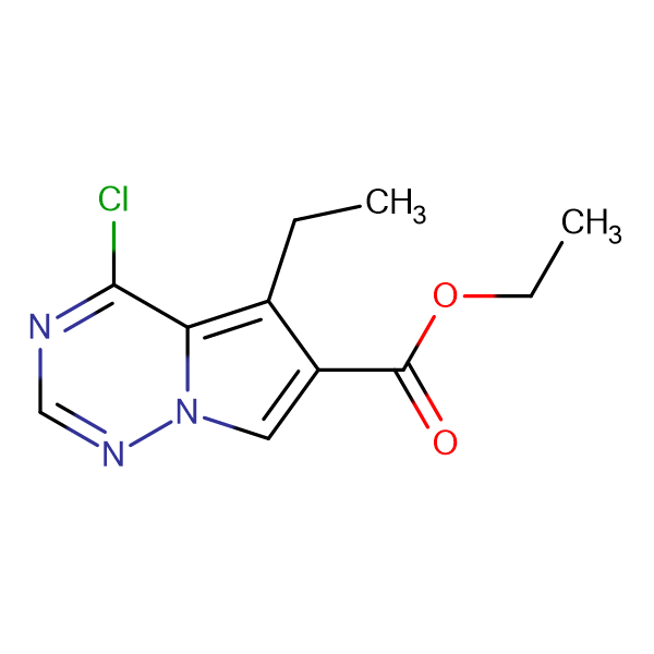 ETHYL 4-CHLORO-5-ETHYLPYRROLO[2,1-F][1,2,4]TRIAZINE-6-CARBOXYLATE