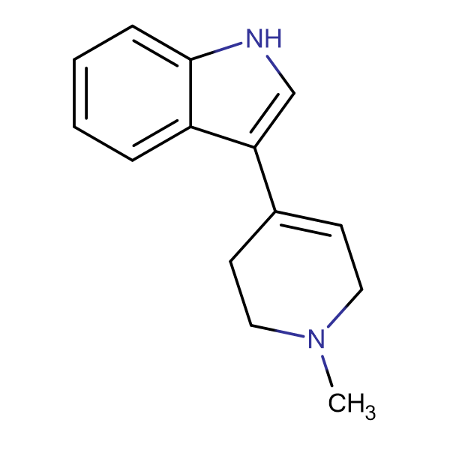 3-(1-METHYL-1,2,3,6-TETRAHYDRO-4-PYRIDINYL)-1H-INDOLE