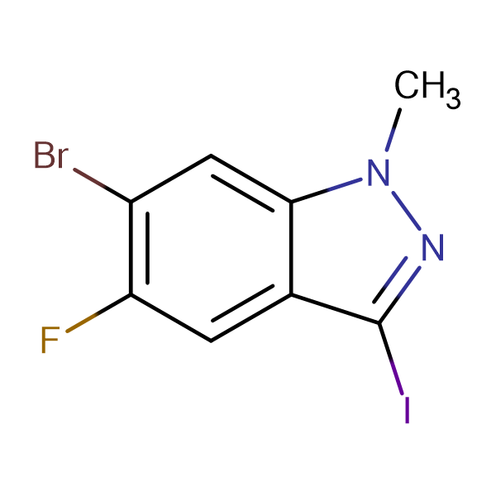 6-BROMO-5-FLUORO-3-IODO-1-METHYL-1H-INDAZOLE