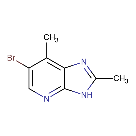 6-BROMO-2,7-DIMETHYL-3H-IMIDAZO[4,5-B]PYRIDINE