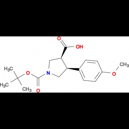TRANS (+/-) 1-[(TERT-BUTYL)OXYCARBONYL]-4-(4-METHOXYPHENYL)PYRROLIDINE-3-CARBOXYLIC ACID