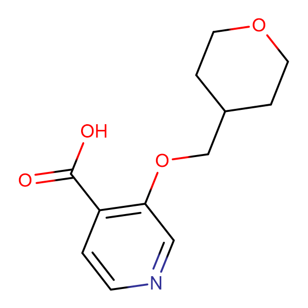 3-[(Tetrahydro-2H-pyran-4-yl)methoxy]isonicotinic acid