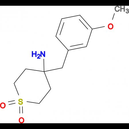 4-Amino-4-[(3-methoxyphenyl)methyl]-1Lambda(6)-thiane-1,1-dione