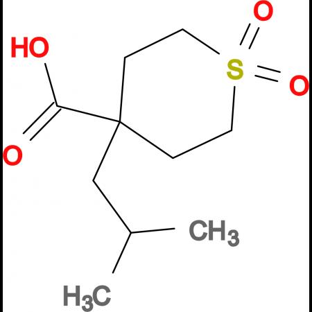 4-(2-Methylpropyl)-1,1-dioxo-1Lambda(6)-thiane-4-carboxylic acid