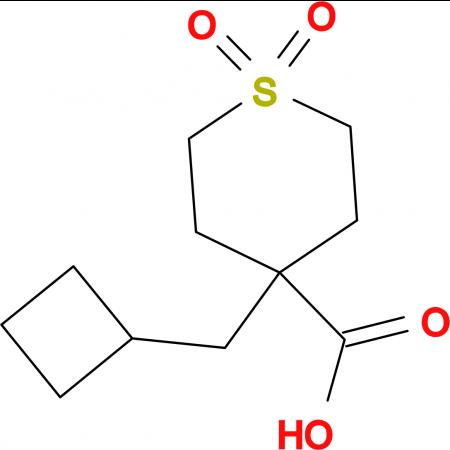 4-(Cyclobutylmethyl)-1,1-dioxo-1Lambda(6)-thiane-4-carboxylic acid
