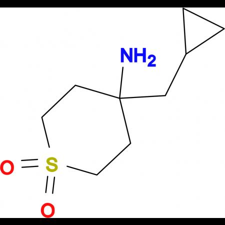 4-Amino-4-(cyclopropylmethyl)-1lambda(6)-thiane-1,1-dione