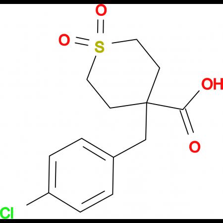 4-[(4-Chlorophenyl)methyl]-1,1-dioxo-1lambda(6)-thiane-4-carboxylic acid