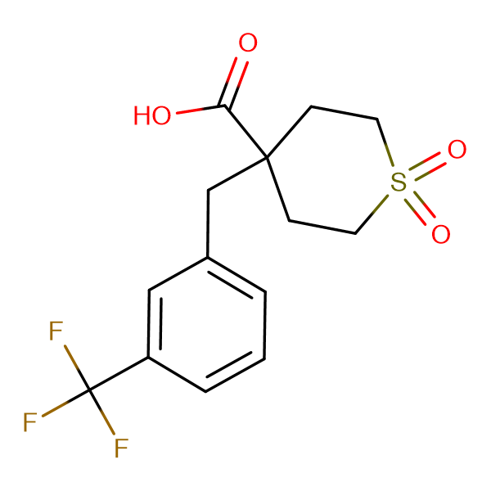 1,1-Dioxo-4-{[3-(trifluoromethyl)phenyl]methyl}-1lambda(6)-thiane-4-carboxylic acid