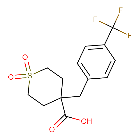 1,1-Dioxo-4-{[4-(trifluoromethyl)phenyl]methyl}-1lambda(6)-thiane-4-carboxylic acid