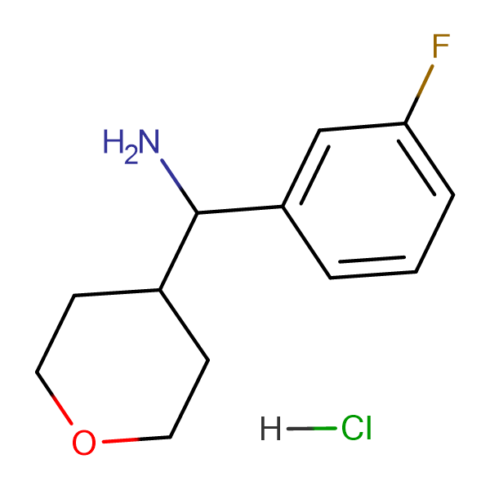 (3-Fluorophenyl)(tetrahydro-2H-pyran-4-yl)methanamine hydrochloride