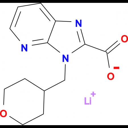 Lithium 3-[(tetrahydro-2H-pyran-4-yl)methyl]-3H-imidazo[4,5-b]pyridine-2-carboxylate