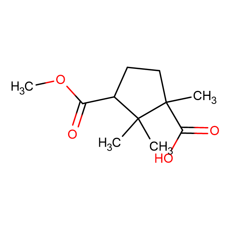 1,2,2-Trimethyl-cyclopentane-1,3-dicarboxylic acid3-methylester