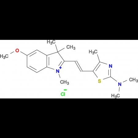 2-[2-(2-Dimethylamino-4-methyl-thiazol-5-yl)-vinyl]-5-methoxy-1,3,3-trimethyl-3H-indolium; chloride