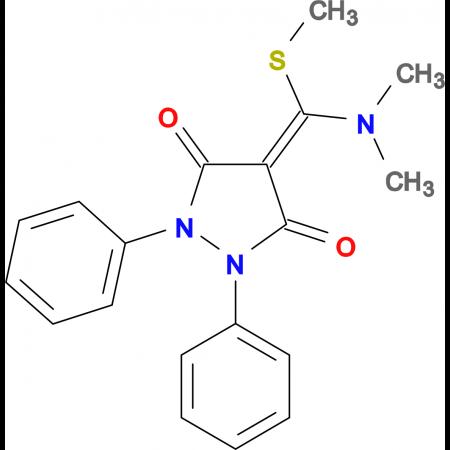 4-(Dimethylamino-methylsulfanyl-methylene)-1,2-diphenyl-pyrazolidine-3,5-dione