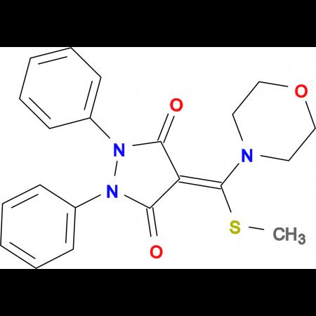 4-(Methylsulfanyl-morpholin-4-yl-methylene)-1,2-diphenyl-pyrazolidine-3,5-dione