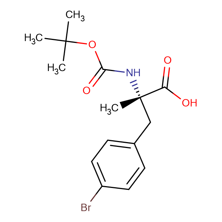 Boc-a-methyl-L-4-bromophenylalanine