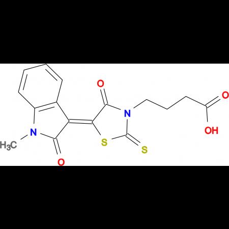 4-(5-(1-methyl-2-oxoindolin-3-ylidene)-4-oxo-2-thioxothiazolidin-3-yl)butanoic acid