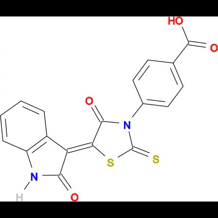 4-(4-oxo-5-(2-oxoindolin-3-ylidene)-2-thioxothiazolidin-3-yl)benzoic acid