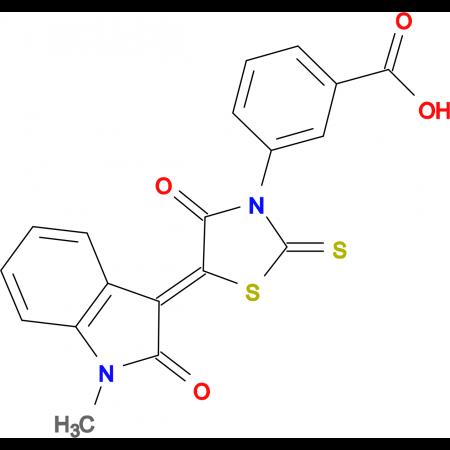 3-(5-(1-methyl-2-oxoindolin-3-ylidene)-4-oxo-2-thioxothiazolidin-3-yl)benzoic acid