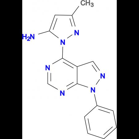 3-methyl-1-(1-phenyl-1H-pyrazolo[3,4-d]pyrimidin-4-yl)-1H-pyrazol-5-amine