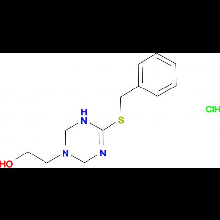 2-[4-(Benzylthio)-3,6-dihydro-1,3,5-triazin-1(2H)-yl]ethanol hydrochloride