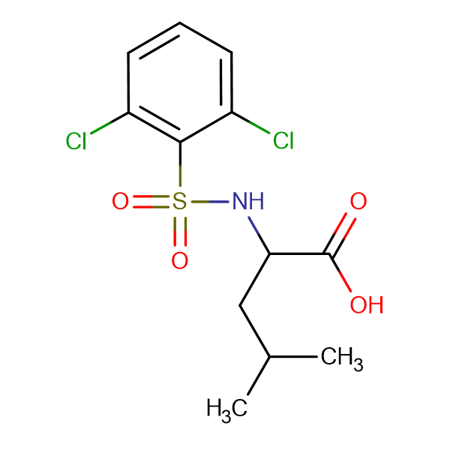 ((2,6-dichlorophenyl)sulfonyl)leucine