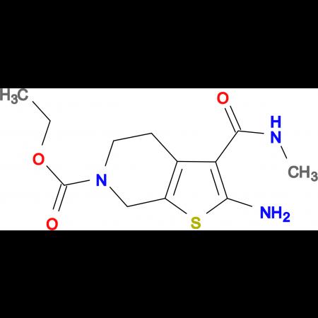 ethyl 2-amino-3-(methylcarbamoyl)-4,7-dihydrothieno[2,3-c]pyridine-6(5H)-carboxylate