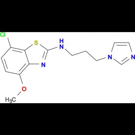 N-(3-(1H-imidazol-1-yl)propyl)-7-chloro-4-methoxybenzo[d]thiazol-2-amine