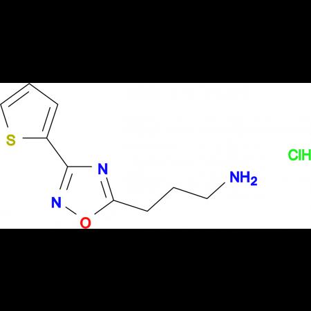 3-(3-(thiophen-2-yl)-1,2,4-oxadiazol-5-yl)propan-1-amine hydrochloride