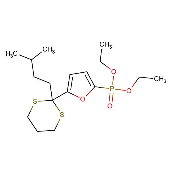 diethyl {5-[2-(3-methylbutyl)-1,3-dithian-2-yl]-2-furyl}phosphonate