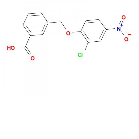 3-((2-Chloro-4-nitrophenoxy)methyl)benzoic acid