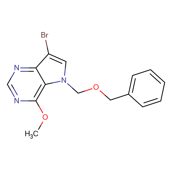 5-(BENZYLOXYMETHYL)-7-BROMO-4-METHOXY-5H-PYRROLO[3,2-D]PYRIMIDINE