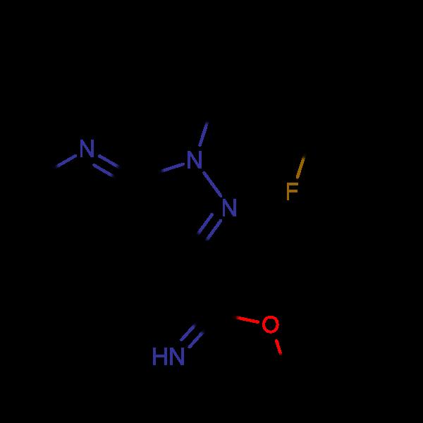 METHYL 1-(2-FLUOROBENZYL)-1H-PYRAZOLO[3,4-B]PYRIDINE-3-CARBIMIDATE