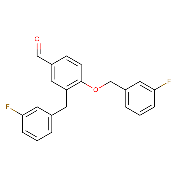4-[(3-FLUOROPHENYL)METHOXY]-3-[(3-FLUOROPHENYL)METHYL]BENZALDEHYDE
