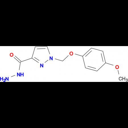 1-[(4-methoxyphenoxy)methyl]-1H-pyrazole-3-carbohydrazide