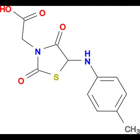 {5-[(4-Methylphenyl)amino]-2,4-dioxo-1,3-thiazolidin-3-yl}acetic acid
