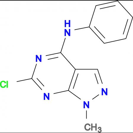 6-Chloro-1-methyl-N-phenyl-1H-pyrazolo[3,4-d]pyrimidin-4-amine