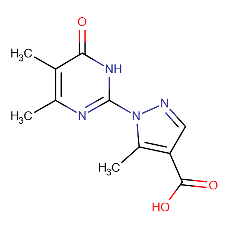1-(4,5-dimethyl-6-oxo-1,6-dihydropyrimidin-2-yl)-5-methyl-1H-pyrazole-4-carboxylic acid