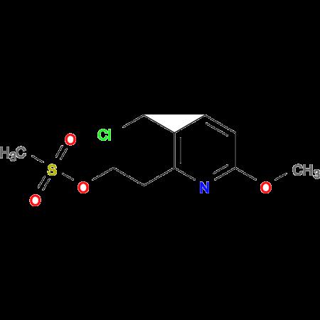 2-[3-(CHLOROMETHYL)-6-METHOXYPYRIDIN-2-YL]ETHYL METHANESULFONATE