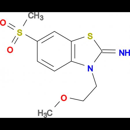 3-(2-methoxyethyl)-6-(methylsulfonyl)benzo[d]thiazol-2(3H)-imine