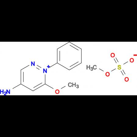 4-Amino-6-methoxy-1-phenylpyridazin-1-ium methyl sulfate