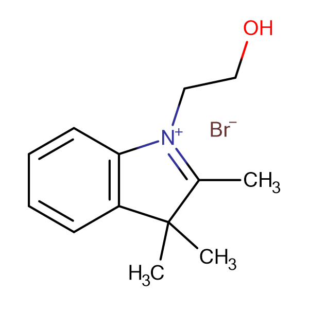 1-(2-Hydroxyethyl)-2,3,3-trimethyl-3H-indol-1-ium bromide