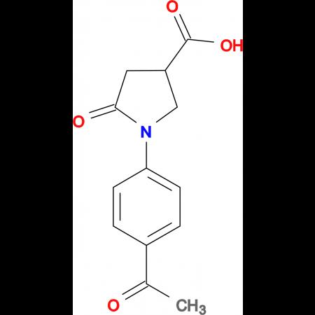 1-(4-acetylphenyl)-5-oxopyrrolidine-3-carboxylic acid