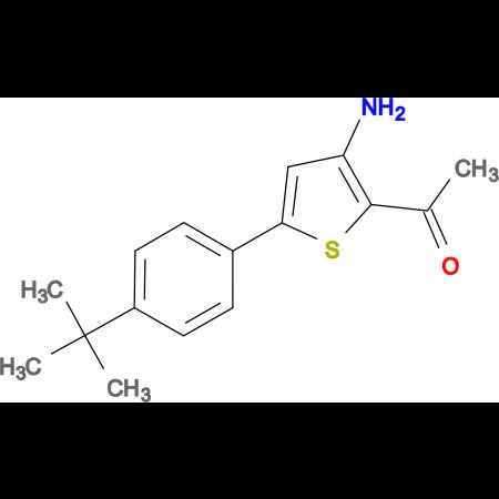 1-{3-amino-5-[4-(tert-butyl)phenyl]-2-thienyl}ethan-1-one