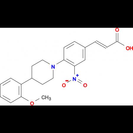 3-{4-[4-(2-methoxyphenyl)piperidino]-3-nitrophenyl}acrylic acid