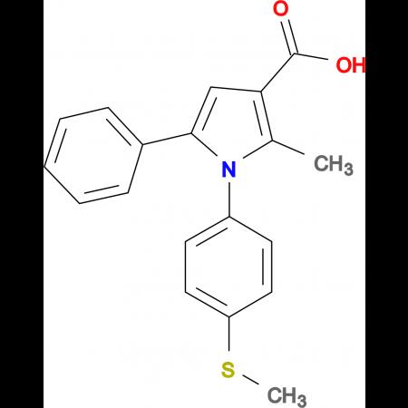 2-methyl-1-[4-(methylthio)phenyl]-5-phenyl-1H-pyrrole-3-carboxylic acid