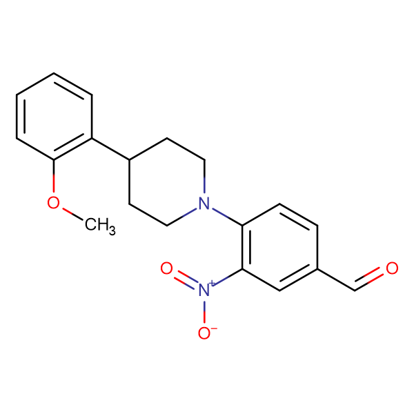 4-[4-(2-methoxyphenyl)piperidino]-3-nitrobenzaldehyde