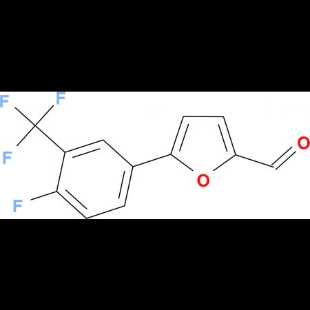 5-[4-fluoro-3-(trifluoromethyl)phenyl]-2-furaldehyde