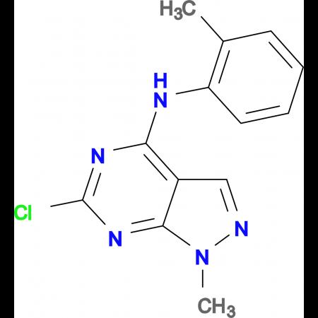 6-Chloro-1-methyl-N-(2-methylphenyl)-1H-pyrazolo[3,4-d]pyrimidin-4-amine